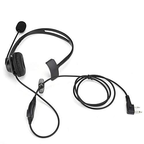 Single Side Monaural Headset Ergonomic with Artificial Leather Ear Cushion Adjustable Headband Ergonomic and Light Adjustable Surgical Steel Headband
