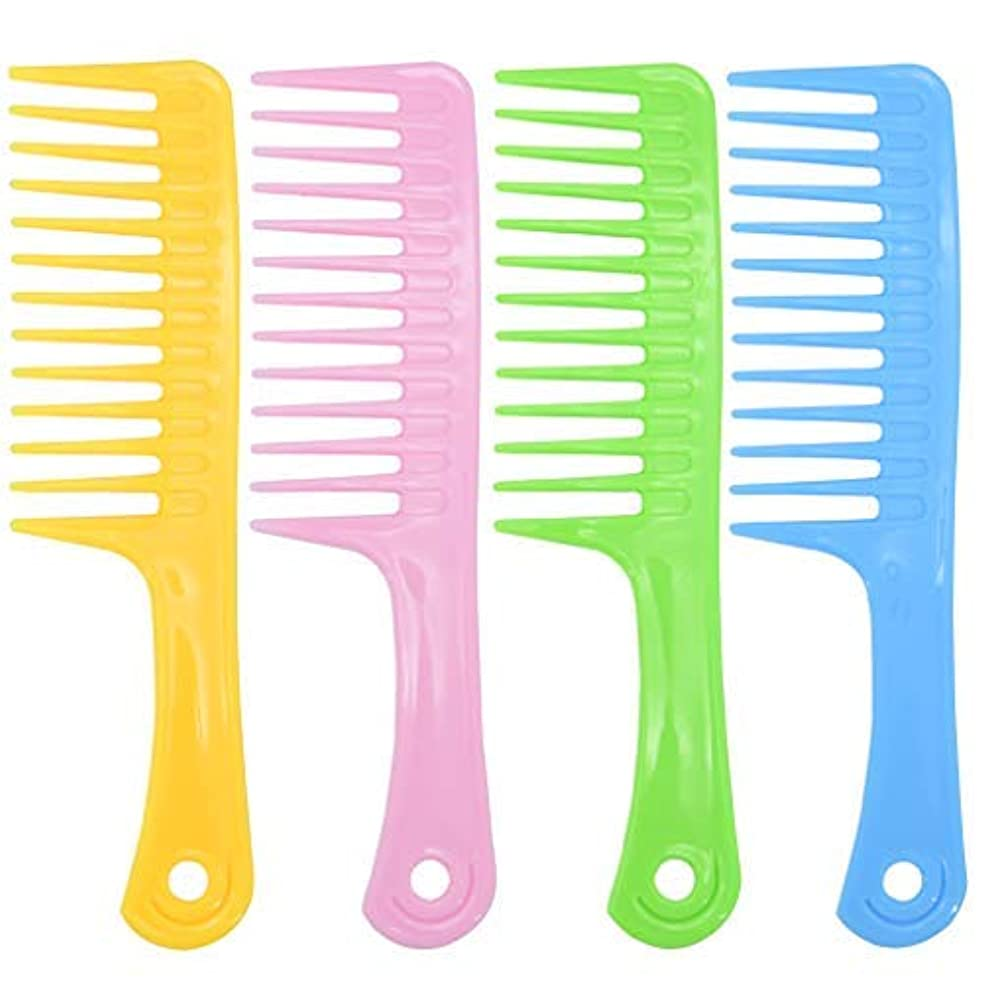カップ弾丸ホップAncefine 8 Pieces Large Tooth Detangle Comb Anti-static Wide Hair Salon Shampoo Comb for Thick,Long and Curl Hair,9 1/2 Inches [並行輸入品]