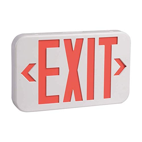AmazonCommercial LED Emergency Exit Sign, UL Certified, 1-Pack, Double Face Exit with Battery Backup