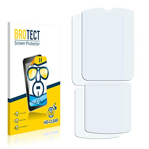 BROTECT Schutzfolie kompatibel mit Motorola Razr V3i (2 Stück) klare Bildschirmschutz-Folie