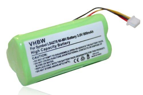 BATERÍA NI-MH 800mAh compatible con SYMBOL LS4278 LS 4278 sustituye BTRY-LS42RAAOE-01, 82-67705-01