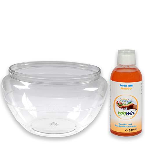 winwin clean Systemische Reinigung - Wasserbehälter geeignet für AIR Blow und proWIN AIR Bowl 2 I inklusive Wunsch - Luftreinigungs-Konzentrat Fresh AIR 500ml (Wasserbehälter + Fresh AIR Mango 500ml)