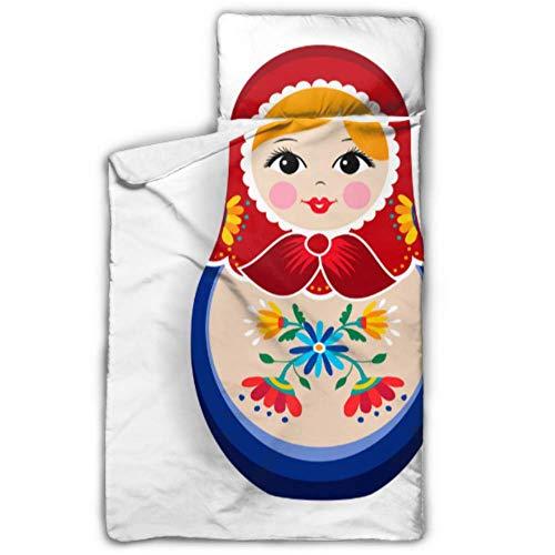 Russische Nesting Matroschka Puppe Kindertagesstätte Kinderbett Kleinkind Nickerchen Matte Kindertagesstätte mit Decke und Kissen Rollup Design ideal für Vorschule Kindertagesstätte Sleepovers 50