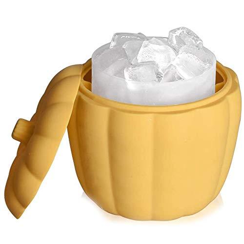 Senmubery 60 Cubos Cubo de Silicona para Fabricar Hielo con Tapa, Enfriador de Licor de Bebida Embotellada, Bandejas Cuadradas para Hielo Aptas para Lavavajillas