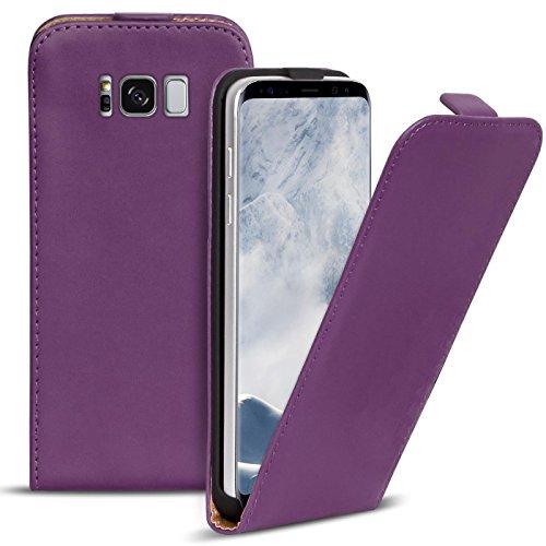 Preisvergleich Produktbild Conie BF35330 Basic Flip Kompatibel mit Samsung Galaxy S8 Plus,  PU Leder Hülle Cover Klapphülle für Galaxy S8 Plus Tasche Lila
