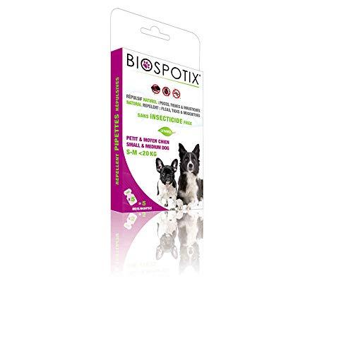 Arppe 2962010100 Pipetas Biospotix contra pulgas, garrapatas y mosquitos, 5 unidades x 1 ml