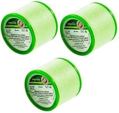 3 Spool Organica Threading Thread | Organica Organic Cotton Eyebrow Threading Thread | Antibacterial Cotton Threads | Facial Hair Removal by Vardhman Yarns And Threads Limited