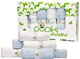 Pupiki Baby Washcloths – Soft Baby Wash Cloths for Face & Body, Gentle on Sensitive Skin – Baby Towels with Bamboo Made from Rayon Fiber & Bonus Machine Washable Bag by Pupiki 10 x 10""