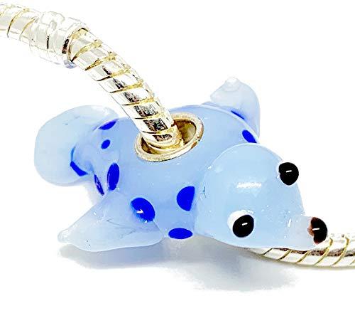 EVESCITY - Abalorios de cristal de Murano con diseño de animales en 3D de plata de ley 925, compatible con pulseras de abalorios