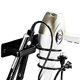 Soporte para secador de pelo y soporte para plancha, soporte para secador de pelo negro con soporte para cable, soporte para secador para baño