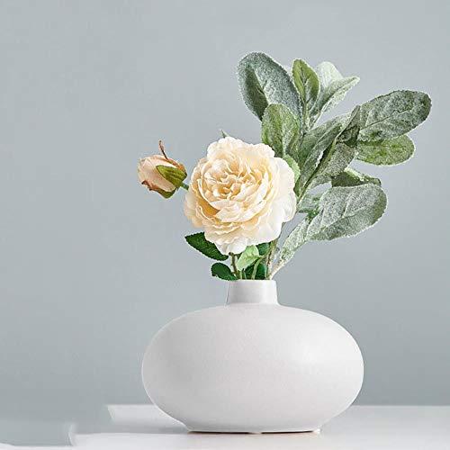 WOONN - Jarrones de cerámica hidropónicos para decoración del hogar para flores artificiales con jarrón decoración de mesa de boda, combinación 6