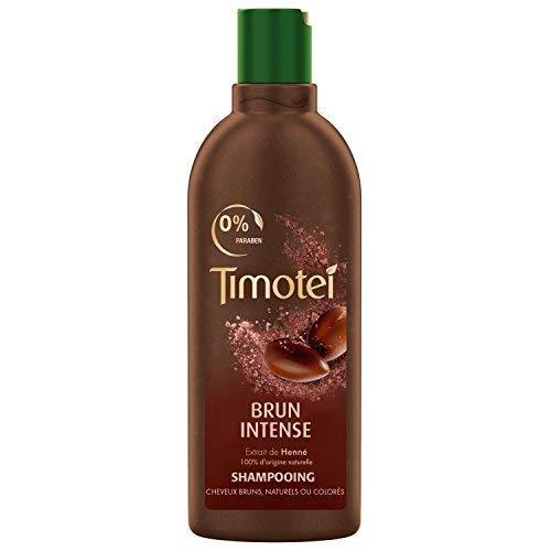 Timotei Shampoing Femme Brun Intense, Extrait de Henné 100% d'origine Naturelle, Idéal pour les Cheveux Bruns, Naturels ou Colorés, 300 ml