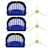 3PCS Side Brushes + 3PCS Filters Vacuum Cleaner Sweeper Robot...
