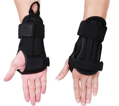 CTHOPER Wrist Guard, Impact Protective Glove Wrist Brace Support Pads for Snowboarding, Skating, Skiing, Motocross, Mountain Biking Protective Gear (Black, S)