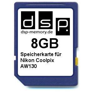 8GB Speicherkarte für Nikon Coolpix AW130