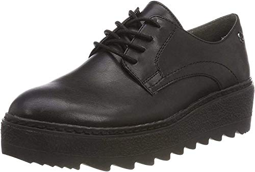Tamaris Damen 23703 Oxfords, Schwarz (Black Matt Uni 021), 41 EU