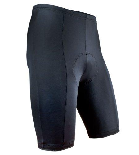 AERO|TECH|DESIGNS Men's Black P. Padded Bike Shorts, Small