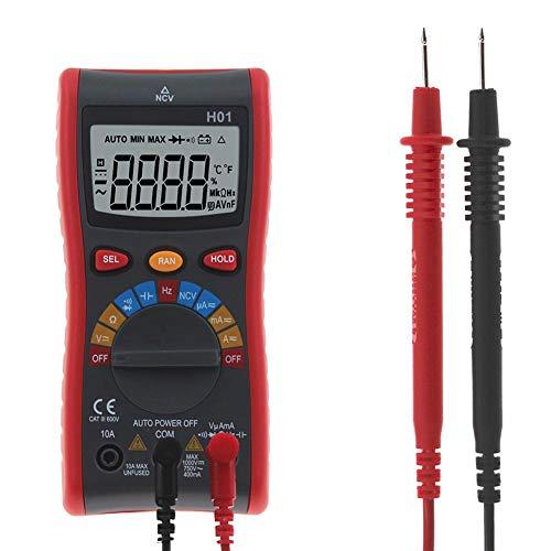 Gamma automatica digitale 4000 conteggi Multimetro AC DC Amperometro Voltmetro Ohm Amp Volt Meter Registratore dati Misurazioni portatili Termometro a termocoppia di resistenza