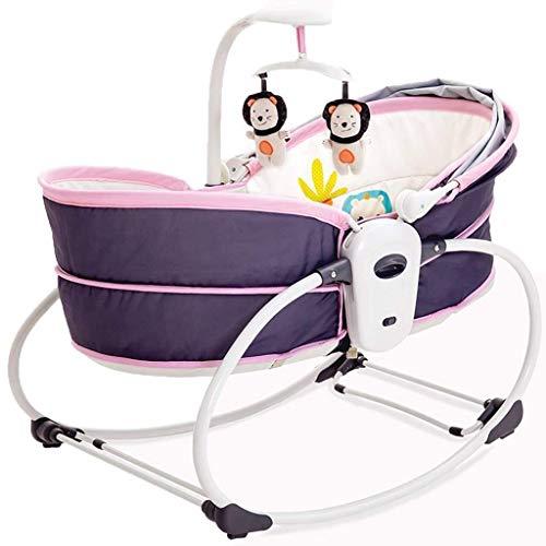 Yingeryaoyi Baby schommelstoel Elektrische Kinderbed Vibrerende wieg Bed Bouncers Baby Cradle Bed Opvouwbare Automatische Comfort schommelstoel Bed Kan Zitten Reclining Basket Bed Baby schommelstoel