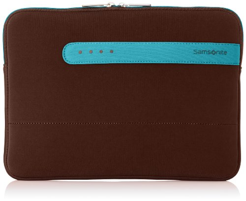 Samsonite handtas organizer Colorshield laptop sleeve 13,3 inch 2,8 liter bruin (donkerbruin/turquoise) 58130