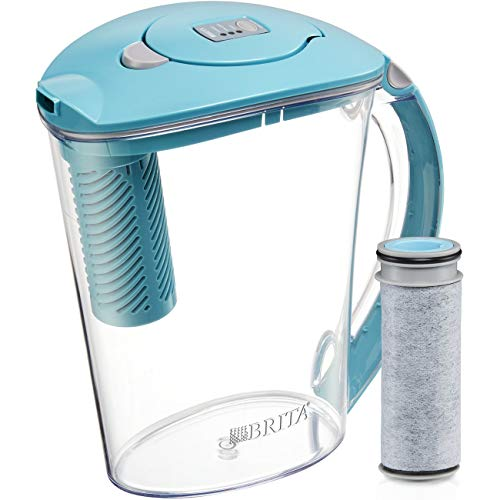 Brita Stream Water Pitcher with 1 Filter, 10 cup, Lake
