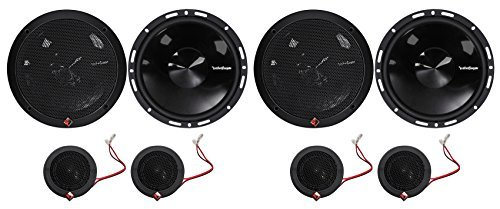 """2-Pairs Rockford Fosgate P165-SI Punch 240w 6.5"""" Car Component Speakers-Euro Fit"""