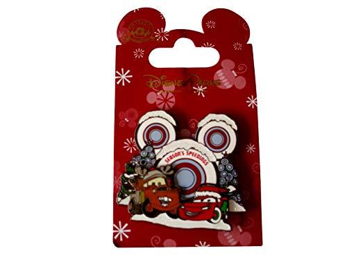 "Disney Cars Mater McQueen ""Season's Speedings"" Christmas 2014 Trading Pin - Theme Park Exclusive"