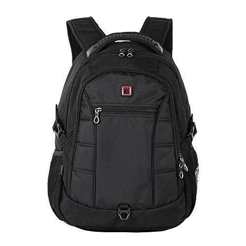 Ang-xj Shoulder bag men business large capacity waterproof backpack outdoor travel,laptop backpack,business laptop bag waterproof travel backpack outdoor daily backpack (Color : Black)