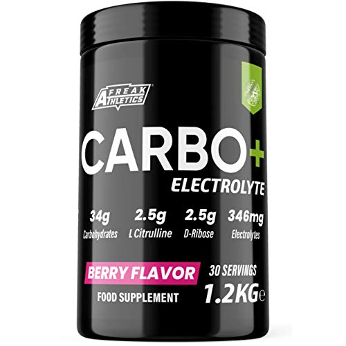 Carbo+ Electrolyte 1.2kg - Carbohydrate Energy Drink Powder with Added Electrolytes, L Citrulline & D-Ribose - Hydration, Energy, Performance & Recovery Fuel