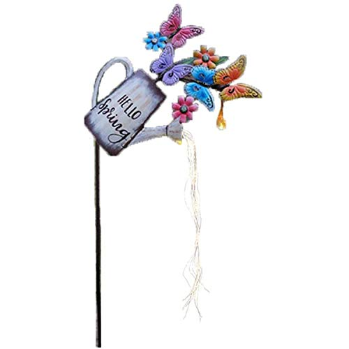 Watering Can Fairy Lights, LED Waterfall Shaped Fairy Lights, Star Shower Lights, Watering Can Fairy Lights Garden Features-A