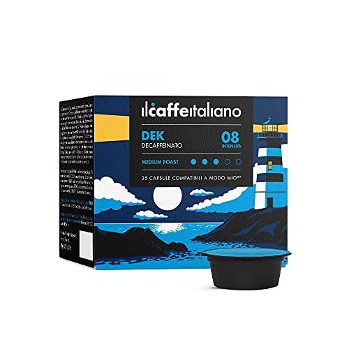 Il Caffè Italiano - Lavazza a Modo Mio 100 Capsule compatibili - Decaffeinato Intensità 8 - Frhome