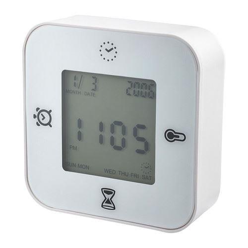 KLOCKIS - Reloj/Termómetro/Despertador/Temporizador, Blanco