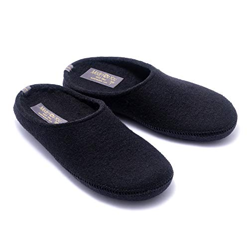 Made For You Women's Natural Wool Slippers with Arch Support Insole, Hypoallergenic with Non-Slip...