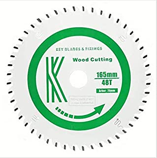 Key Blades and Fixings 165 mm x 20 mm x Bore Track Circular Saw Blade 48 Tooth 48t Teflon Coated Professional Quality saw Blade Best for Quality and Price