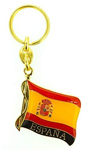 Gemelolandia | Bandera de España Gemelos Pin de Solapa Llavero Pulsera Accesorios con la Bandera Española Gemelos Originales Para Camisas | Para Hombres y Niños
