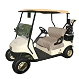 Reversible Golf Cart Seat and Back Cover, Black and Taupe