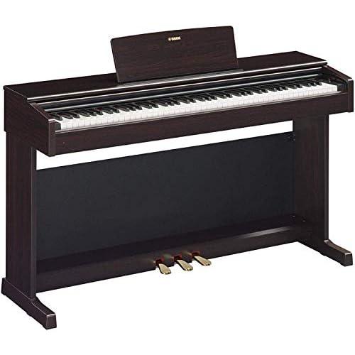 Yamaha Arius Digital Piano YDP-144R – Pianoforte Digitale con Suono da Concerto – Connettore Host USB – Compatibile con l'Applicazione Gratuita Smart Pianist – Palissandro