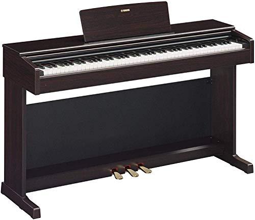 Yamaha Arius Digital Piano YDP-144R, Rosenholz – Elektronisches Klavier mit Hammermechanik, Konzertflügel-Klang & USB-to-Host-Anschluss – Kompatibel mit kostenloser App
