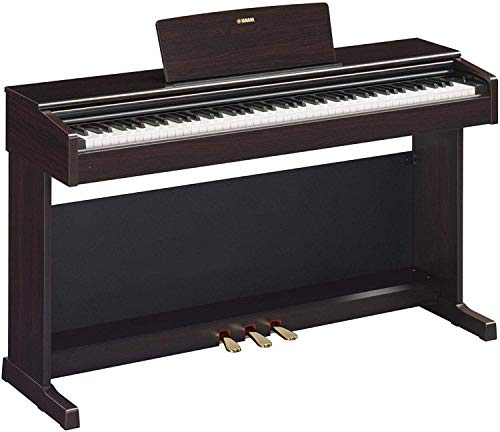 Yamaha Arius YDP-144 piano droit numérique avec 88 touches – Avec sonorité d'un piano de concert – Pour amateurs & étudiants – Compatible avec l'application Smart Pianist – Bois de rose