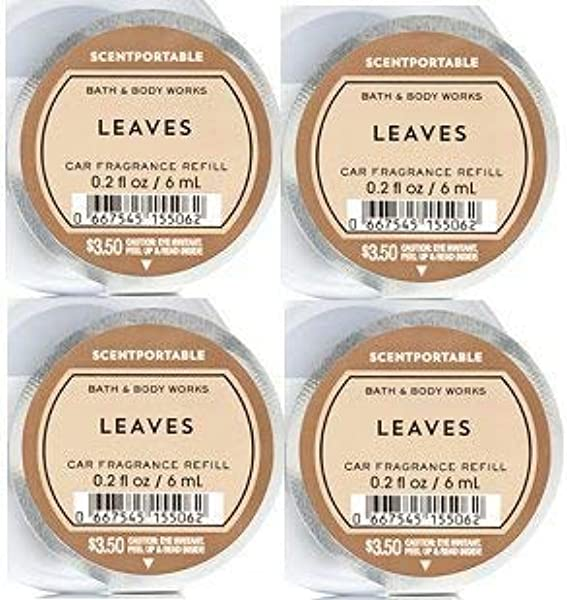 Bath And Body Works 4 Pack Leaves Scentportable Fragrance Refill 0 2 Oz