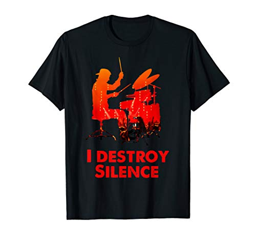 Schlagzeuger Drummer Drums | I destroy the Silence T-Shirt