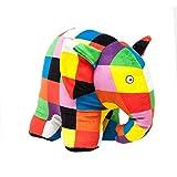 Rainbow Designs EL1765 Elmer l'elefante Grande Peluche Alto 21,5 cm