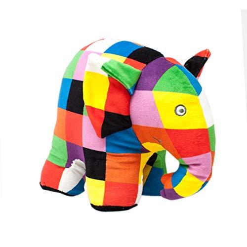 Rainbow EL1765 Elmar das Elefant Großes Stofftier, 21,5 cm hoch