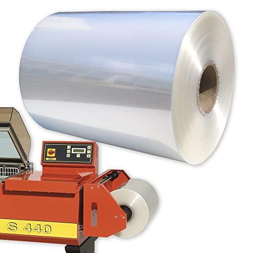 Halbschlauch Schrumpffolie 400 mm, 12,5 µm, 1600 m - Folie für Food- und Non-Food-Produkte für Verpackungsmaschinen