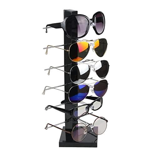 CHENXIANGTA8 Soporte de exhibición de Gafas Joyero Almacenamiento Rack Pantalla de plástico Rack Gafas de Sol Gafas Almacenamiento Rack Gafas Pantalla Estante Soporte de exhibición (Color : Black)