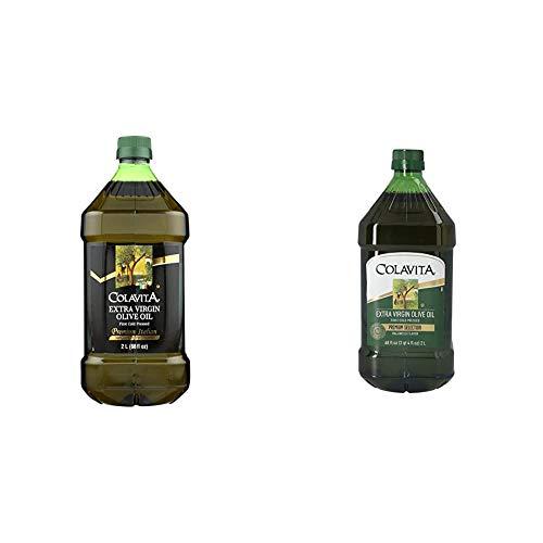 Colavita Premium Italian Extra Virgin Olive Oil, 68 fl. oz. (2 Liters) Jug & Extra Virgin Olive Oil, First Cold Pressed, (2 Liters) 68 Fl Oz (Pack of 1)