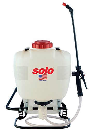 Solo 425 4-Gallon Professional Piston Backpack Sprayer, Wide Pressure Range up to 90 psi