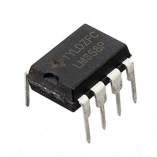 Guolongbaihuo El Kit del módulo 10 Piezas de LM358P LM358N LM358 Dip-8 Chip IC Dual Amplificador Operacional, Alto de la cantidad y fácil de Usar