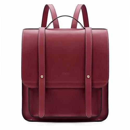 ECOSUSI Rucksack Damen Daypack Tagesrucksack für Mädchen Schulranzen Rucksackhandtaschen Set mit Einer Kleinen Geldbörse