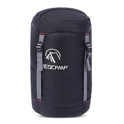 REDCAMP Kompressionssack aus Nylon, ultraleicht, Kompressionssack, ideal für Camping, Rucksackreisen, Wandern, Schwarz, L